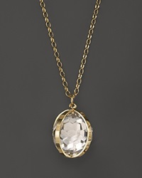 Monica Rich Kosann 18K Yellow Gold X Large Carpe Diem Necklace With Crystal 32 Gold White