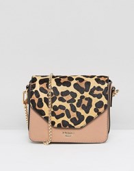 Dune Interchangeable Leopard Print And Blush Crossbody Bag Navy