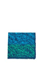 Missoni Logomania Cotton Scarf Blue