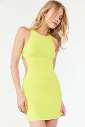 Silence And Noise Strappy Cutout Bodycon Dress Lime