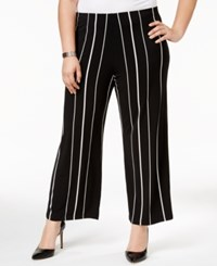 Alfani Plus Size Striped Culottes Only At Macy's Black White Stripe