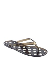 Kate Spade Janela Polka Dot Thong Sandals Smoke