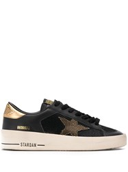 Golden Goose Star Lace Up Sneakers Black