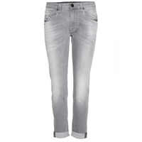True Religion Grace Low Rise Boyfriend Jeans Grey White