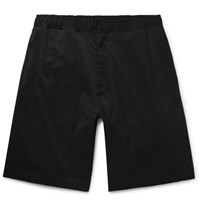 Our Legacy Drape Super 120S Worsted Virgin Wool Drawstring Shorts Black