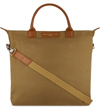 Want Les Essentiels O'hare Canvas Tote Beige Cognac