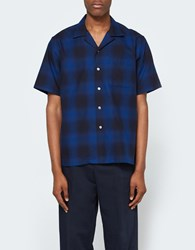 Maiden Noir Ombre Ss Shirt Navy Plaid