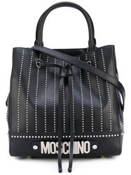 Moschino Embroidered Tote Women Vinyl One Size Black