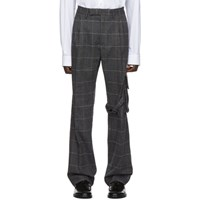 Off White Grey Slim Cargo Trousers