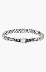 Lagos Caviartm Rope Station Bracelet Sterling Silver Gold