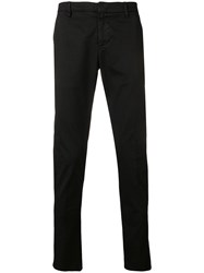 Dondup Regular Chino Trousers Black