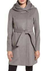 Cole Haan Signature Women's Belted Asymmetrical Wool Coat Platinum