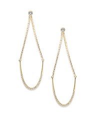 Swarovski August Crystal Dangle Earrings Gold