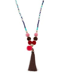 Cara Assorted Beads Necklace Rose Gold