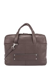 Delsey Pernety Leather Horizontal 15.6' Laptop Tote Brown