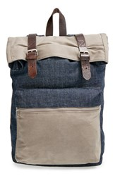 Men's Topman Denim And Canvas Backpack