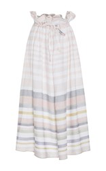Mara Hoffman Paper Bag Striped Midi Skirt