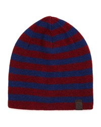 Penguin Ashmore Striped Beanie Hat Italian Pl