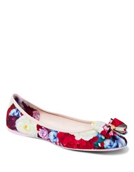 Ted Baker Immep Floral Bow Ballerina Flats Multi Colored