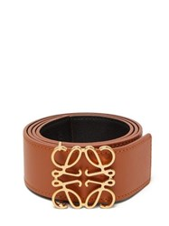 Loewe Anagram Reversible Leather Belt Tan