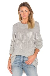 Ayni Tayi Fringe Sweater Gray