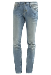 Meltin Pot Slim Fit Jeans Light Wash Blue Denim