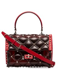 Valentino Garavani Candystud Shoulder Bag Red