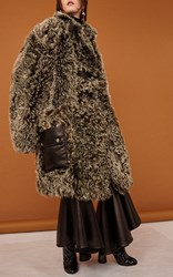 Ellery Octave Oversized Shearling Coat Brown