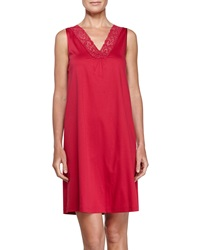 Hanro Moments Tank Gown Cranberry