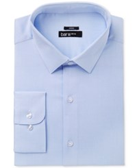 Bar Iii Men's Slim Fit Stretch Max Blue Basket Dress Shirt Only At Macy's Light Blue