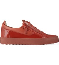 Giuseppe Zanotti Patent Leather Low Top Trainers Red
