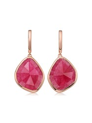 Monica Vinader Rp Siren Large Nugget Pink Quartz Earrings