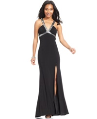 Hailey Logan By Adrianna Papell Juniors' Sequin Trim Gown