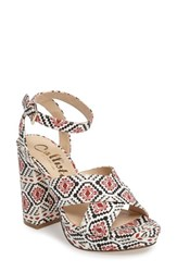 Callisto Women's Windye Platform Ankle Strap Sandal Tribal Fabric