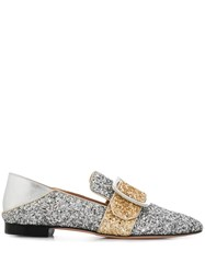 Bally Buckled Janelle Loafers Silver