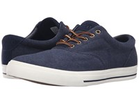 Polo Ralph Lauren Vaughn Dark Blue Heather Men's Lace Up Casual Shoes Navy