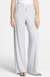 Theory 'Tavimmy' Linen Blend Pants White Denim