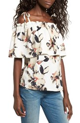 Leith Women's Off The Shoulder Floral Top