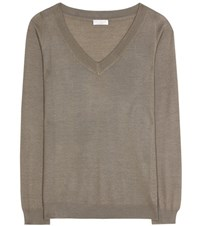 Brunello Cucinelli Cashmere And Silk Sweater Green