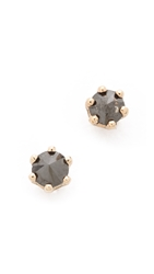 Blanca Monros Gomez Little Black Diamond Stud Earrings Gold Black