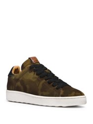 Coach Camouflage Suede Low Top Sneakers Saddle Wil