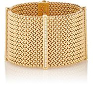 Sidney Garber Women's Mesh Chain Wide Band Bracelet Colorless