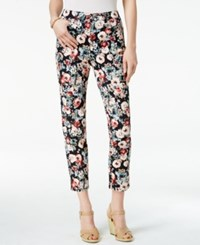 Charter Club Bristol Printed Skinny Ankle Jeans Only At Macy's Misty Pink Combo