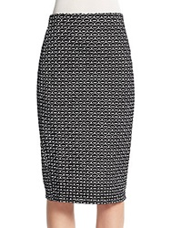 Saks Fifth Avenue Geo Midi Skirt Black Ivory