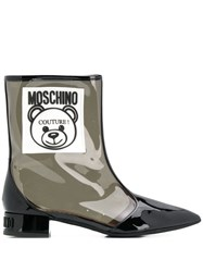 Moschino Teddy Bear Transparent Ankle Boots 60