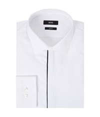 Boss Satin Trim Shirt White