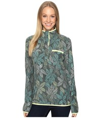 Columbia Mountain Side Printed Pullover Pond Floral Lines Women's Long Sleeve Pullover Multi