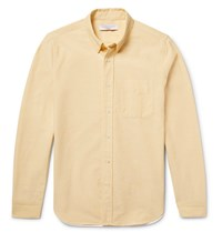 Orlebar Brown Oliver Slim Fit Button Down Collar Cotton Oxford Shirt Yellow