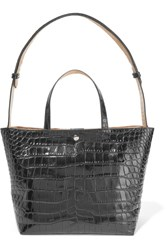 Elizabeth And James Eloise Croc Effect Leather Tote Black