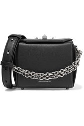 Alexander Mcqueen Box Bag Textured Leather Shoulder Bag Black